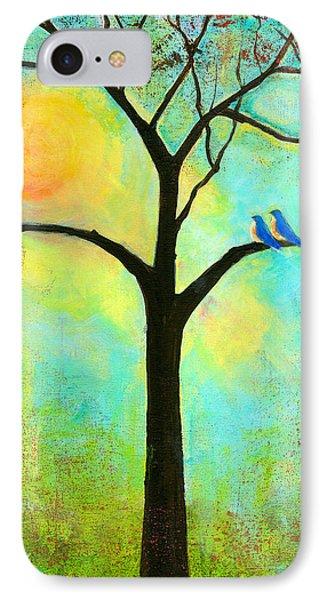 Bluebird iPhone 7 Case - Sunshine Tree by Blenda Studio