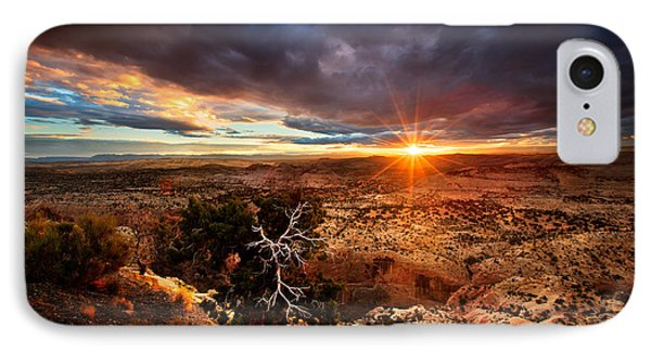 Sunstar Over The Escalante IPhone Case by Dan Holmes