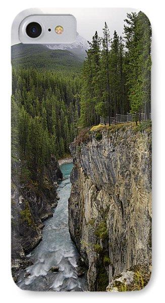 Sunwapta Falls Canyon IPhone Case by John Gilbert
