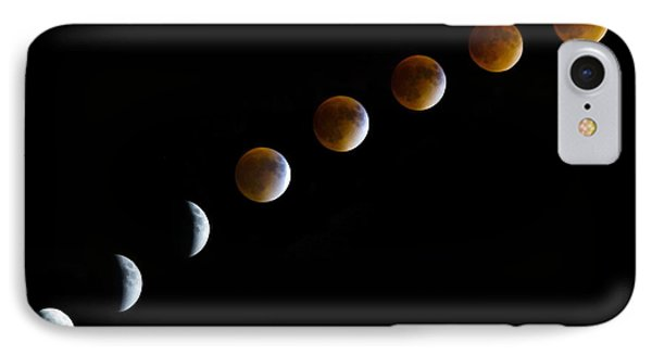 Super Blood Moon Time Lapse IPhone Case by Jennifer White