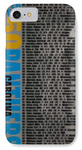 Super Bowl 50 Carolina Panthers Roster IPhone Case by Joe Hamilton