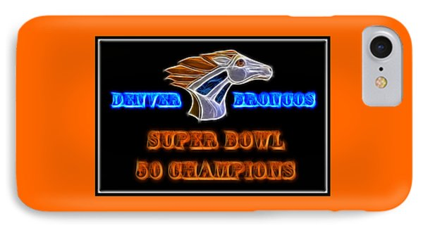 IPhone Case featuring the photograph Super Bowl 50 Champions by Shane Bechler
