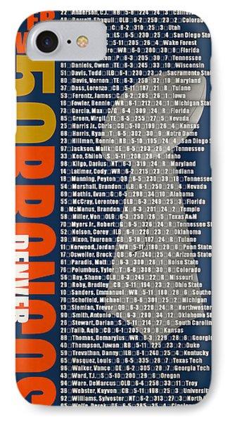 Super Bowl 50 Denver Broncos Roster IPhone Case by Joe Hamilton