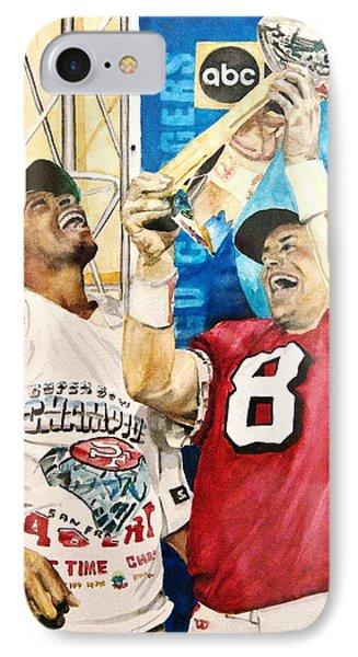 Super Bowl Legends Phone Case by Lance Gebhardt