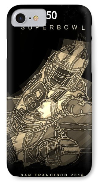 Super Bowl Poster IPhone Case by Andrew Drozdowicz
