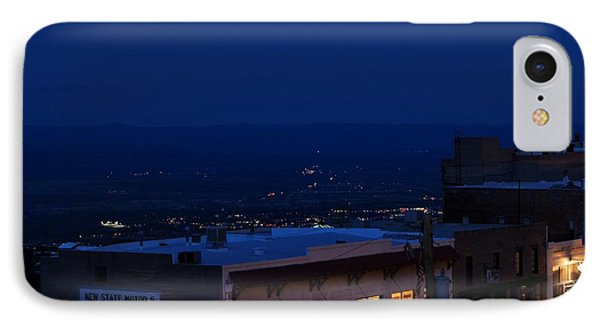IPhone Case featuring the photograph Super Full Moon 1/2 Eclipse Over Jerome Az by Ron Chilston