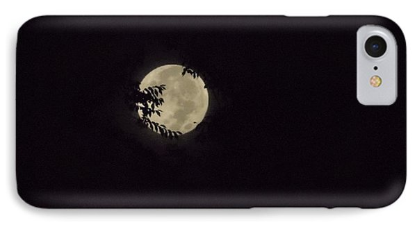 IPhone Case featuring the photograph Super Moon At Dawn by Deborah Moen