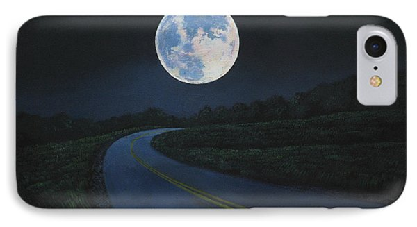 Super moon at the end of the road painting by christopher for Road case paint