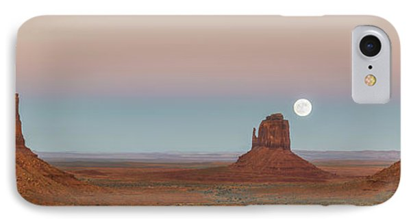 Desert Sunset iPhone 7 Case - Super Moon In Monument Valley by Jon Glaser
