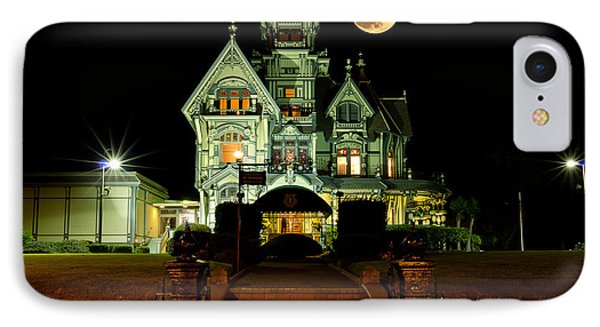 Super Moon Over Carson Mansion IPhone Case