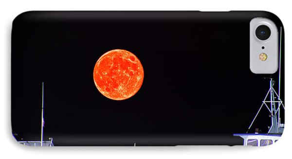 IPhone Case featuring the photograph Super Moon Over Crazy Sister Marina by Bill Barber