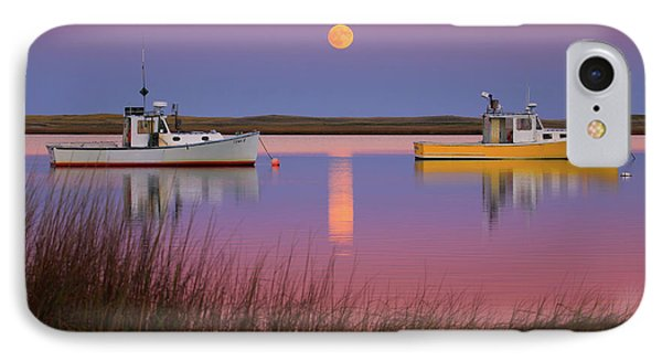 Super Moon Over Nauset Beach Cape Cod National Seashore Phone Case by Dapixara Art