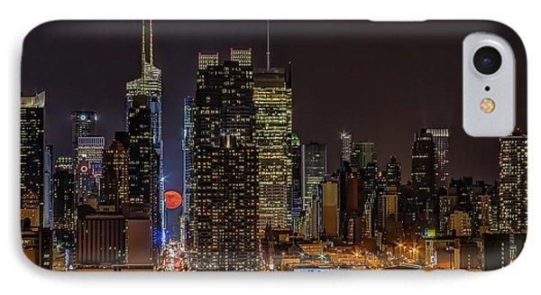 Super Moon Rising IPhone Case by Susan Candelario