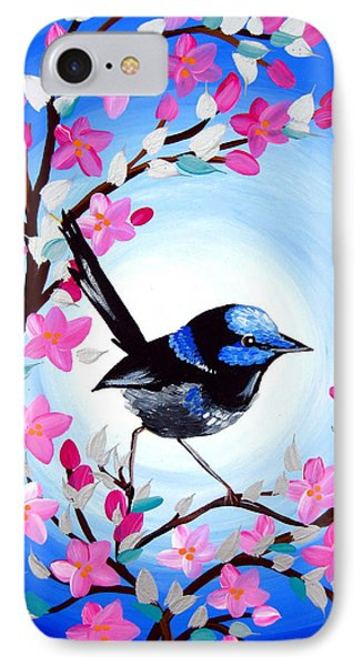 Superb Fairy Wren IPhone 7 Case by Cathy Jacobs