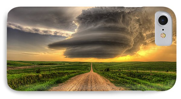 Supercell Highway - Arcadia Nebraska IPhone Case by Douglas Berry