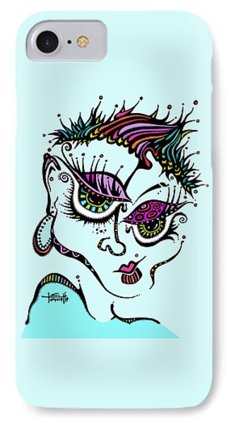 IPhone Case featuring the drawing Superfly by Tanielle Childers