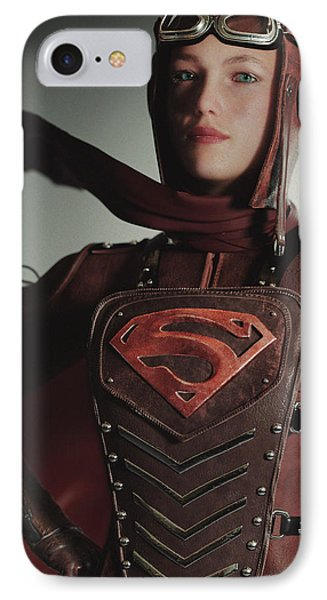 Supergirl Air Force 1944 IPhone Case by J A Duran