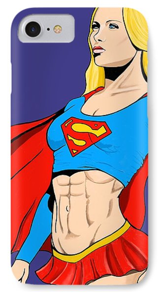 Supergirl IPhone Case by Brian Broadway