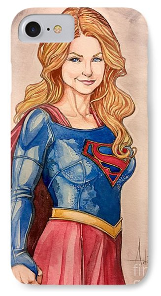Supergirl IPhone Case by Jimmy Adams