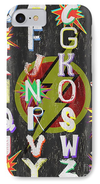Superhero Alphabet IPhone Case by Debbie DeWitt