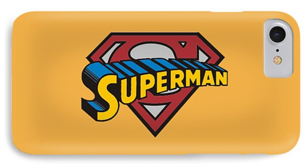Superman T-shirt IPhone Case by Herb Strobino