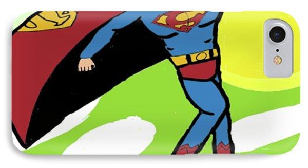Superman In Flight Phone Case by John Lavernoich