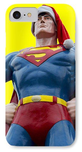 Superman Santa IPhone Case by Stephen Stookey