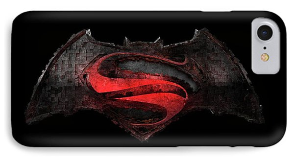 IPhone Case featuring the photograph Superman Vs Batman by Louis Ferreira