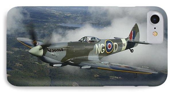 Supermarine Spitfire Mk.xvi Fighter Phone Case by Daniel Karlsson