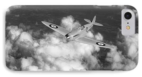 IPhone 7 Case featuring the photograph Supermarine Spitfire Prototype K5054 Black And White Version by Gary Eason