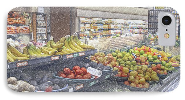 IPhone Case featuring the photograph Supermarket Produce Section by David Zanzinger