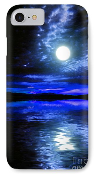 Supermoon Over Lake 2 IPhone Case by Elaine Hunter