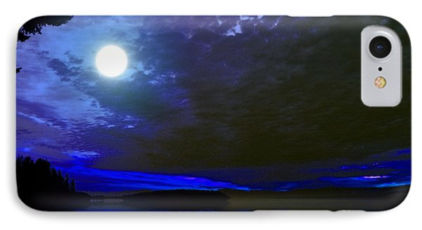 Supermoon Over Lake IPhone Case by Elaine Hunter