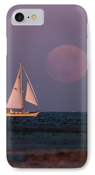Supermoon Two IPhone Case by John Loreaux