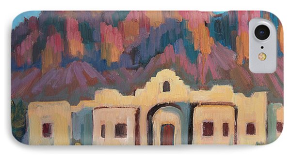 IPhone Case featuring the painting Superstition Mountain Evening by Diane McClary
