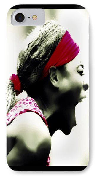 Serena Williams 03c IPhone Case by Brian Reaves