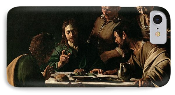 Supper At Emmaus IPhone Case by Michelangelo Merisi da Caravaggio