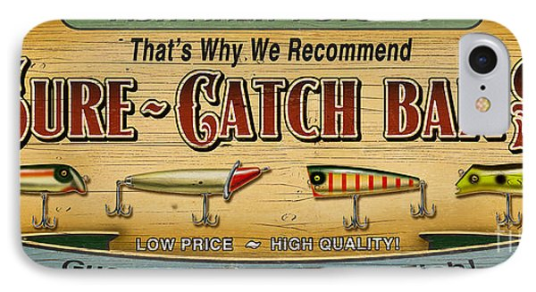 Sure Catch Baits Sign IPhone Case by Jon Q Wright