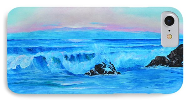 Surf At Sunset  IPhone Case by Lloyd Dobson