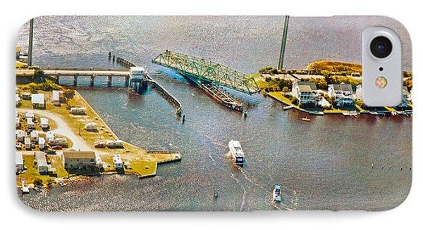 Surf City Swing Bridge IPhone Case by Betsy Knapp
