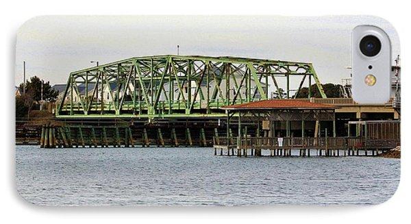 Surf City Swing Bridge IPhone Case by Cynthia Guinn