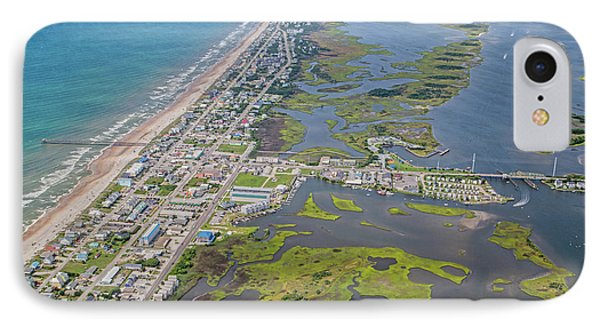 Surf City Topsail Island Aerial IPhone Case by Betsy Knapp