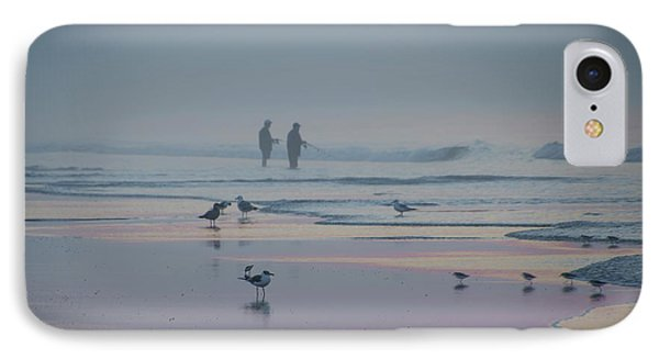IPhone Case featuring the photograph Surf Fishing In Wildwood by Bill Cannon