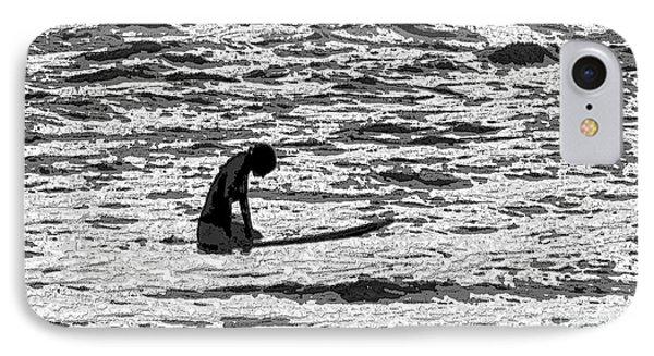 IPhone Case featuring the digital art Surf Meditation by Suzette Kallen