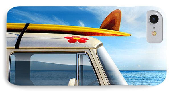 Flowers iPhone 7 Case - Surf Van by Carlos Caetano