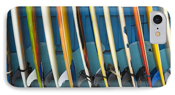 Surfboards Phone Case by Dana Edmunds - Printscapes
