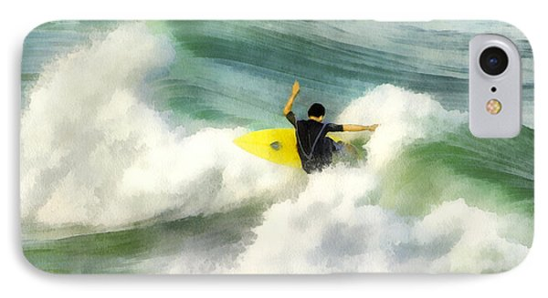 IPhone Case featuring the digital art Surfer 76 by Francesa Miller