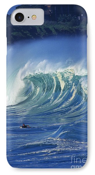 Surfer And Wave IPhone Case by Vince Cavataio - Printscapes