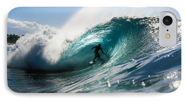 Surfer At Pipeline Phone Case by Vince Cavataio - Printscapes