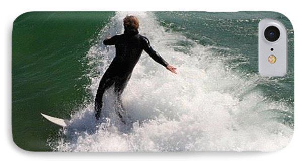 Surfer Catching A Wave IPhone Case